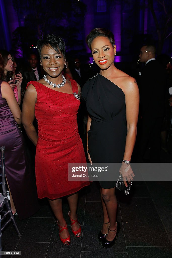 Lynn Richardson and musician <a gi-track='captionPersonalityLinkClicked' href=/galleries/search?phrase=MC+Lyte&family=editorial&specificpeople=226807 ng-click='$event.stopPropagation()'>MC Lyte</a> attend the Inaugural Ball hosted by BET Networks at Smithsonian American Art Museum & National Portrait Gallery on January 21, 2013 in Washington, DC.