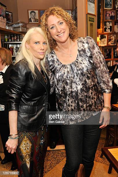 Lynn Shaw and Judy Gold attend 'The Judy Show' sandwich unveiling at the Carnegie Deli on September 21 2011 in New York City