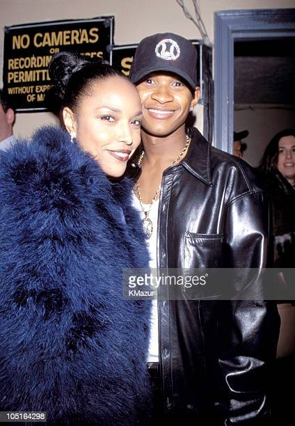 Lynn Whitfeld and Usher during TNT Presents A Gift of Song New York January 1 1997 in New York City New York United States