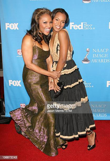 Lynn Whitfield and Kerry Washington during The 37th Annual NAACP Image Awards Arrivals at Shrine Auditorium in Los Angeles California United States
