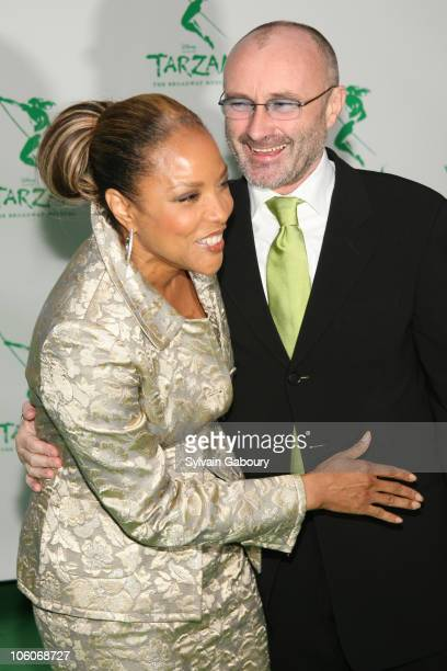 Lynn Whitfield and Phil Collins during Opening Night of 'Tarzan' Arrivals at Richard Rodgers Theater in New York NY United States