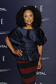 Lynn Whitfield attends a reception hosted by ELLE EditorinChief Robbie Myers and Center for American Progress President Neera Tanden sponsored by...