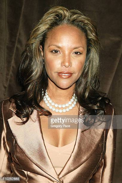 Lynn Whitfield during Olympus Fashion Week Spring 2006 Kai Milla Inside Arrivals and Front Row at Celeste Bartos Forum New York Public Library in New...
