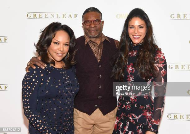 Lynn Whitfield Keith David and Merle Dandridge attend 'Greenleaf' Season 2 Press Luncheon at Four Seasons Hotel on February 3 2017 in Atlanta Georgia
