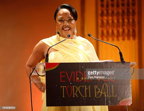 Lynn Whitfield speaks onstage during the Torch Ball hosted by Evidence A Dance Company at The Plaza Hotel on March 25 2013 in New York City