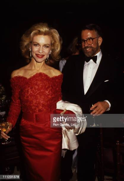 Lynn Wyatt and Guest during 1987 Schweitzer Award Music Awards at Avery Fisher Hall in New York City New York United States