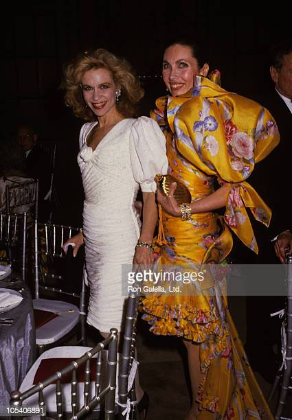 Lynn Wyatt and Veronica Hearst during Ten Treasure Dinner at New York Public Library in New York City New York United States