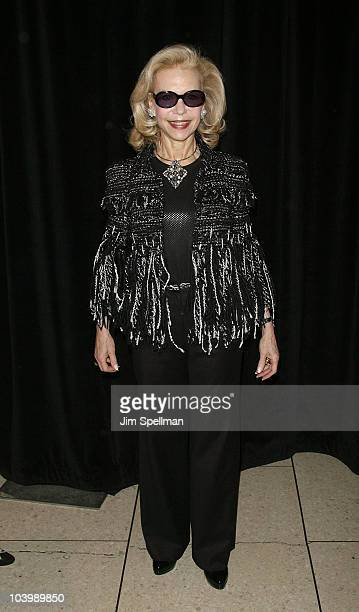 Lynn Wyatt attends the 6th Annual Fashion Award Benefit Luncheon at Avery Fisher Hall at Lincoln Center for the Performing Arts on September 10 2010...