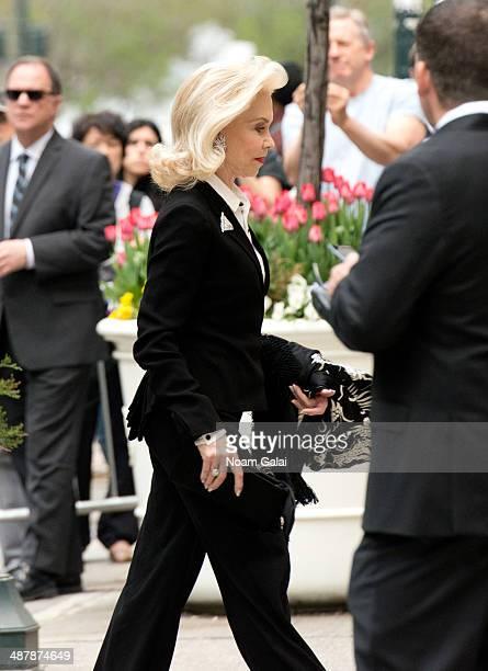 Lynn Wyatt attends the memorial service for L'Wren Scott at St Bartholomew's Church on May 2 2014 in New York City Fashion designer L'Wren Scott...