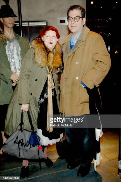 Lynn Yaeger and Fred Smith attend SUSANNE BARTCH and DAVID BARTON host the Launch of REEM at David Barton Gym on January 22 2010 in New York City
