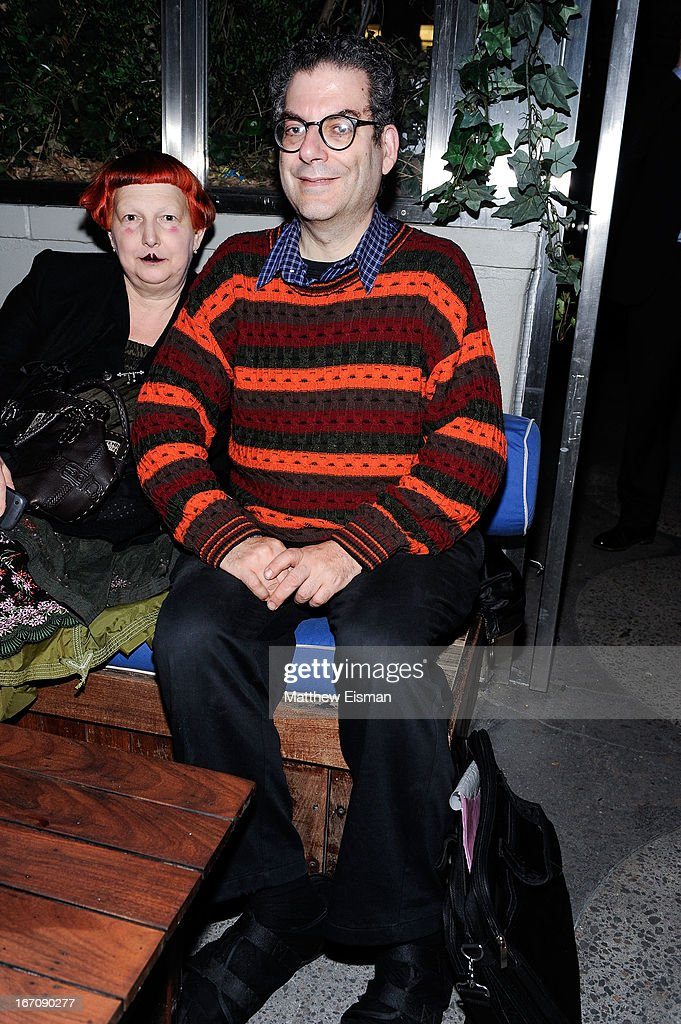 Lynn Yaeger and <a gi-track='captionPersonalityLinkClicked' href=/galleries/search?phrase=Michael+Musto&family=editorial&specificpeople=221292 ng-click='$event.stopPropagation()'>Michael Musto</a> attends the 'Elaine Stritch: Shoot Me' after party during the 2013 Tribeca Film Festival at Maritime Hotel on April 19, 2013 in New York City.