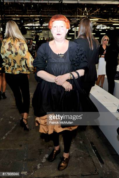 Lynn Yaeger attends ALEXANDER WANG Spring 2011 Fashion Show at Pier 94 West Side Highway on September 11 2010 in New York City