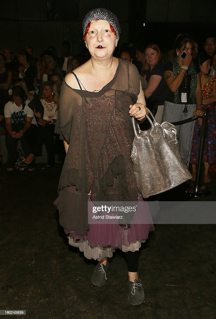 Lynn Yaeger attends the Marc By Marc Jacobs fashion show during Mercedes-Benz Fashion Week Spring 2014 at Pier 57 on September 10, 2013 in New York City.