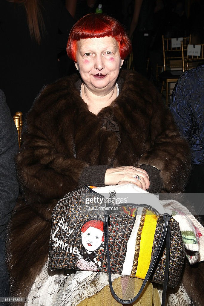 Lynn Yaeger attends Zac Posen during Fall 2013 Mercedes-Benz Fashion Week on February 10, 2013 in New York City.