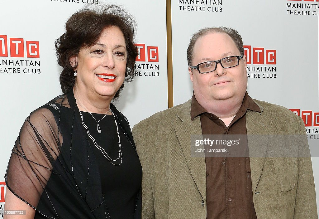 Lynne Meadow and Richard Greenberg attend 'The Assembled Parties' Broadway Opening Night after party at the Copacabana on April 17, 2013 in New York City.