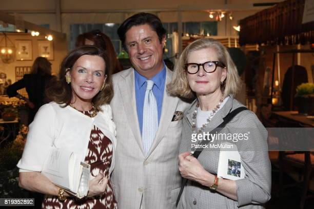 Lynne Wheat and Gail Gould attend The 18th Annual Antique Garden Furniture Show Preview Party Collector's Plant Sale at The New York Botanical Garden...