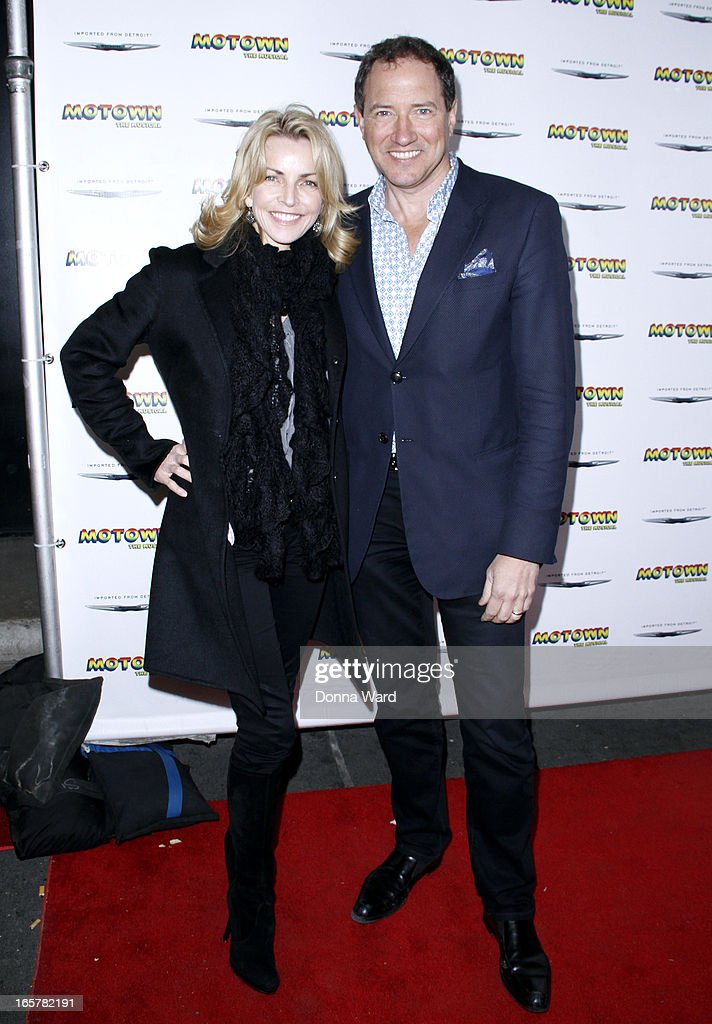 Lynnette Perry and Kevin McCollum attend 'Motown: The Musical' Motown Family Night at Lunt-Fontanne Theatre on April 5, 2013 in New York City.