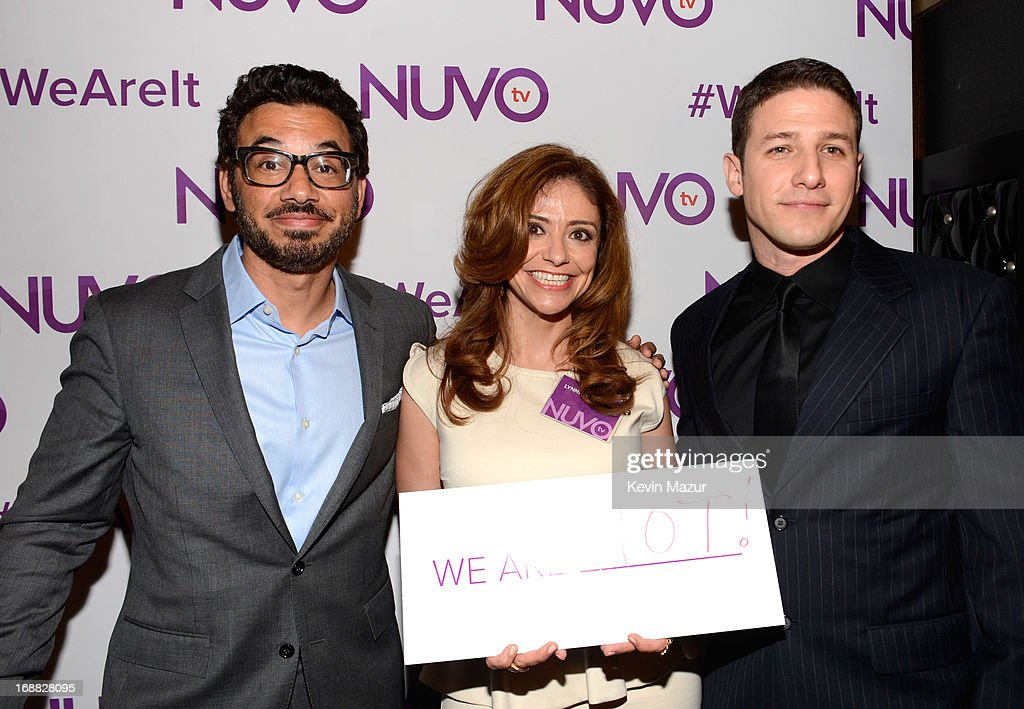 Lynnette Ramirez and Jose Sarduy attend the NUVOtv Upfront presentation at The Edison Ballroom on May 15, 2013 in New York City.