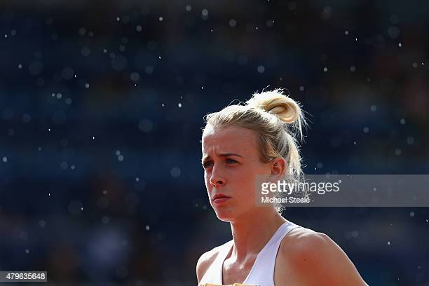 Lynsey Sharp of Edinburgh AC ahead of the Women's 800m Final during day three of the Sainsbury's British Championships at Birmingham Alexander...