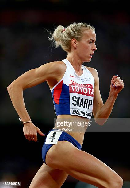 Lynsey Sharp of Great Britain competes in the Women's 800 metres semifinal during day six of the 15th IAAF World Athletics Championships Beijing 2015...