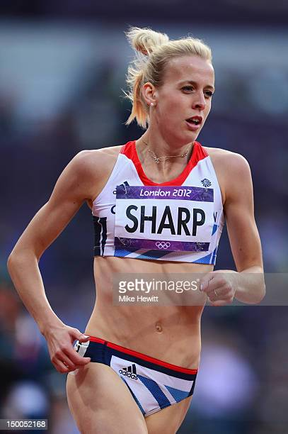 Lynsey Sharp of Great Britain competes in the Women's 800m Semifinals on Day 13 of the London 2012 Olympic Games at Olympic Stadium on August 9 2012...