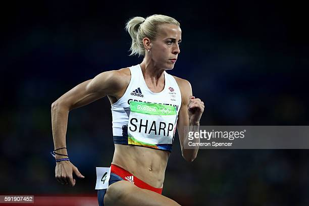Lynsey Sharp of Great Britain competes in the Women's 800m Semifinals on Day 13 of the Rio 2016 Olympic Games at the Olympic Stadium on August 18...