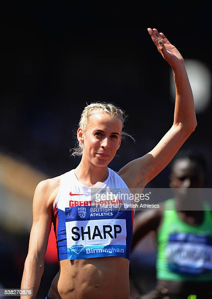Lynsey Sharp of Great Britain prepares for the Women's 800m during the Birmingham Diamond League at Alexander Stadium on June 5 2016 in Birmingham...