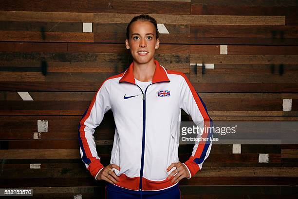Lynsey Sharp poses after the Unlimited London Parade at Nike Town on July 24 2016 in London England