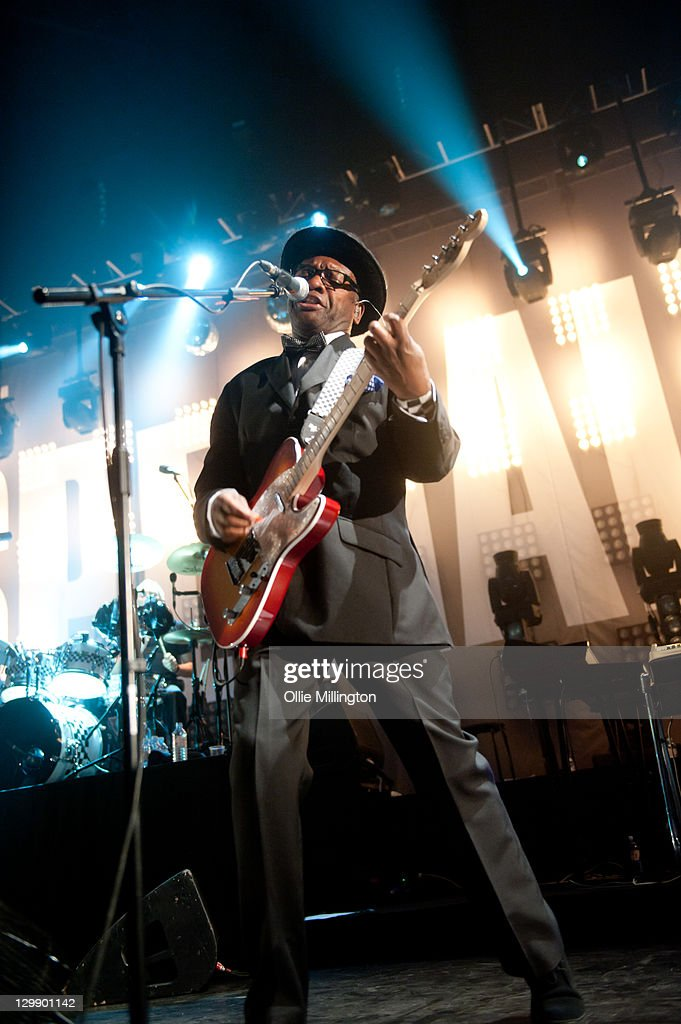 Lynval Golding of The Specials performs onstage at Nottingham Capital FM Arena on October 21, 2011 in Nottingham, United Kingdom.