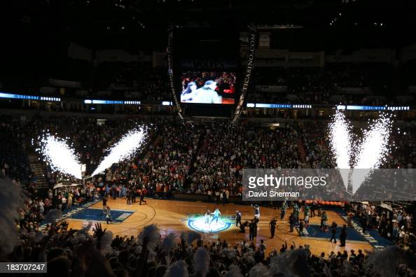Lynx fans get excited during Lynx players introductions during Game 2 of the 2013 WNBA Finals on October 8 2013 at Target Center in Minneapolis...