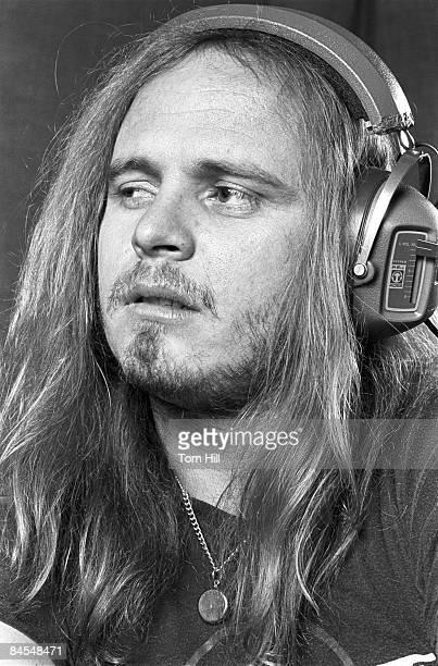 ATLANTA GA August 12 Lynyrd Skynyrd member Ronnie Van Zant works on 'Street Survivors' at Studio I on August 12 1977 in DoravilleAtlanta Georgia