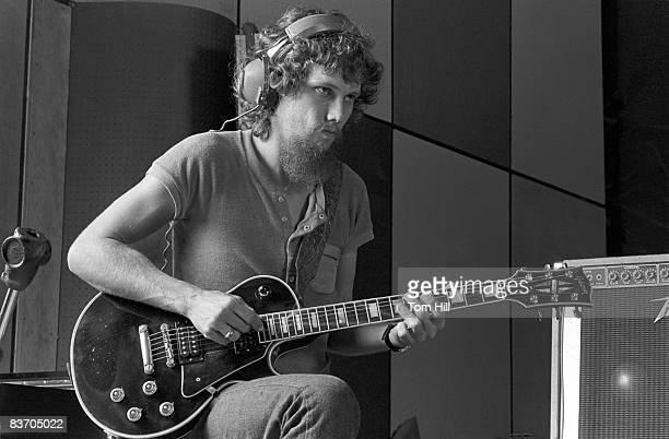 Lynyrd Skynyrd member Steve Gaines works on 'Street Survivors' at Studio I on August 12 1977 in DoravilleAtlanta Georgia