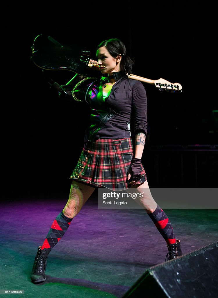 LynZ from Mindless Self Indulgence performs at The Fillmore on April 20 2013 in Detroit Michigan