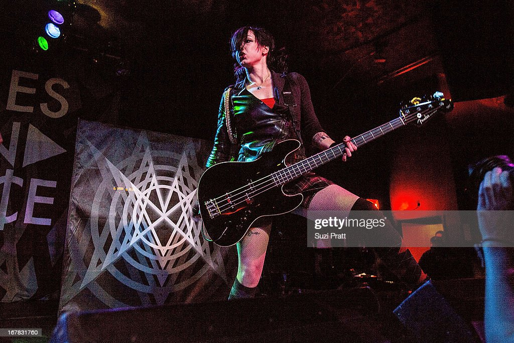 LynZ of Mindless Self Indulgence at the Showbox at the Market in Seattle WA on April 30 2013 in Seattle Washington