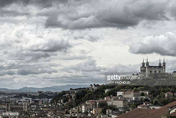 Lyon Fourviere Basilica is pictured on April 8 2016 / AFP / JEFF PACHOUD