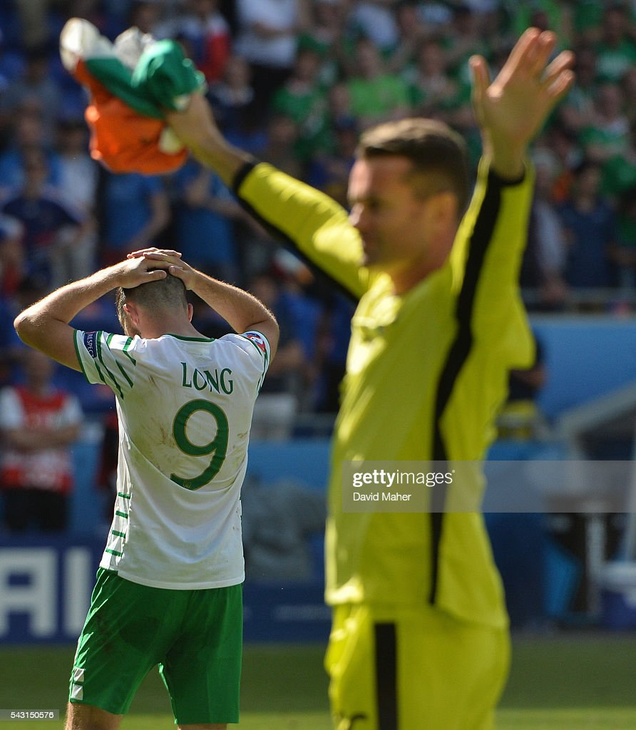 Lyon , France - 26 June 2016; A dejected Shane Long of Republic of Ireland at the end of the UEFA Euro 2016 Round of 16 match between France and Republic of Ireland at Stade des Lumieres in Lyon, France.