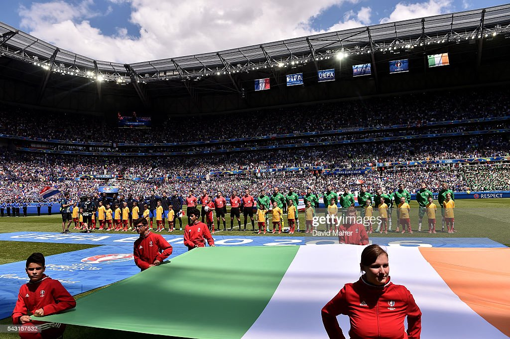 Lyon , France - 26 June 2016; A general view before the start of the UEFA Euro 2016 Round of 16 match between France and Republic of Ireland at Stade des Lumieres in Lyon, France.
