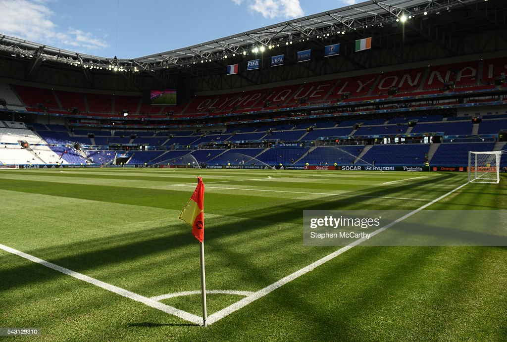 Lyon , France - 26 June 2016; A general view of the Stade des Lumieres ahead of the UEFA Euro 2016 Round of 16 match between France and Republic of Ireland at Stade des Lumieres in Lyon, France.