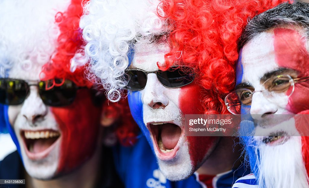 Lyon , France - 26 June 2016; French supporters ahead of the UEFA Euro 2016 Round of 16 match between France and Republic of Ireland at Stade des Lumieres in Lyon, France.