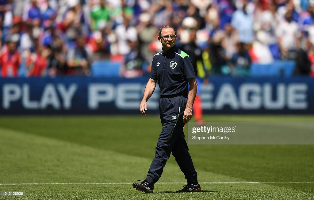 Lyon , France - 26 June 2016; Republic of Ireland manager <a gi-track='captionPersonalityLinkClicked' href=/galleries/search?phrase=Martin+O%27Neill&family=editorial&specificpeople=201190 ng-click='$event.stopPropagation()'>Martin O'Neill</a> ahead of the UEFA Euro 2016 Round of 16 match between France and Republic of Ireland at Stade des Lumieres in Lyon, France.