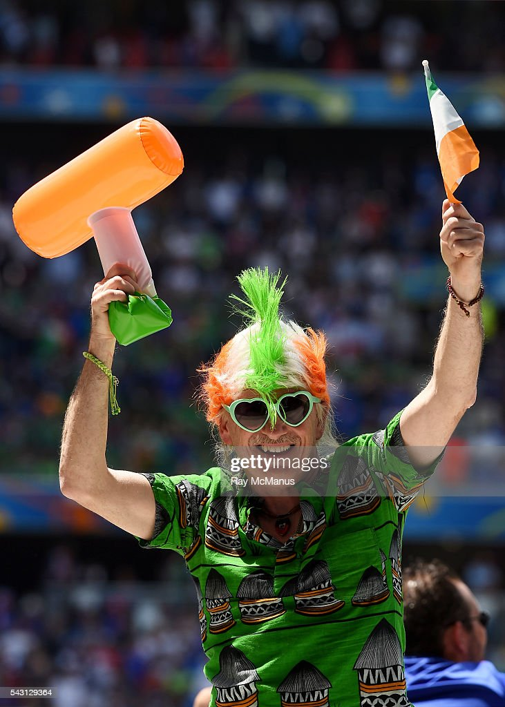 Lyon , France - 26 June 2016; Republic of Ireland supporter Peter Gannon, from Harolds Cross, Dublin, ahead of the UEFA Euro 2016 Round of 16 match between France and Republic of Ireland at Stade des Lumieres in Lyon, France.