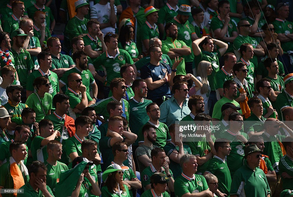 Lyon , France - 26 June 2016; Republic of Ireland supporters during the UEFA Euro 2016 Round of 16 match between France and Republic of Ireland at Stade des Lumieres in Lyon, France.