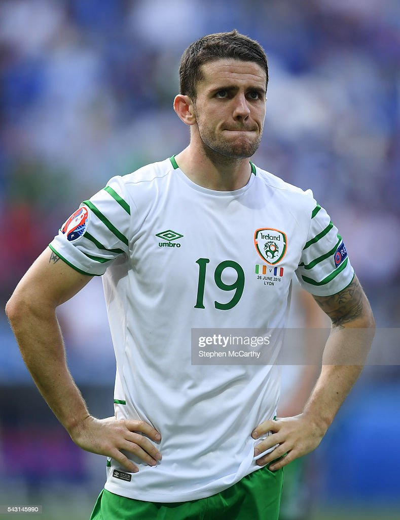 Lyon , France - 26 June 2016; Robbie Brady of Republic of Ireland following the UEFA Euro 2016 Round of 16 match between France and Republic of Ireland at Stade des Lumieres in Lyon, France.
