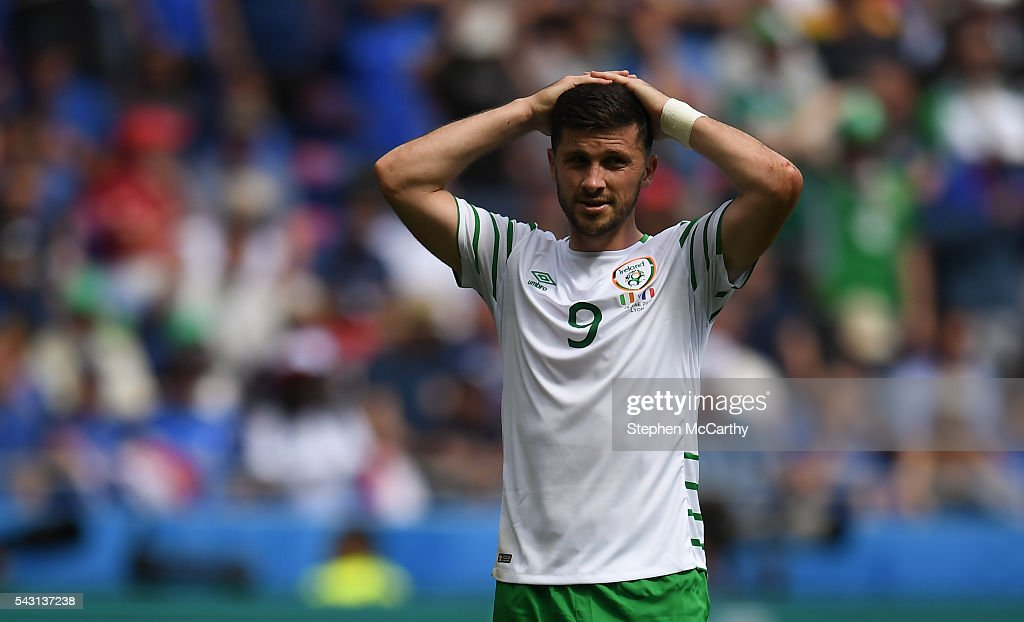Lyon , France - 26 June 2016; <a gi-track='captionPersonalityLinkClicked' href=/galleries/search?phrase=Shane+Long&family=editorial&specificpeople=661194 ng-click='$event.stopPropagation()'>Shane Long</a> of Republic of Ireland during the UEFA Euro 2016 Round of 16 match between France and Republic of Ireland at Stade des Lumieres in Lyon, France.