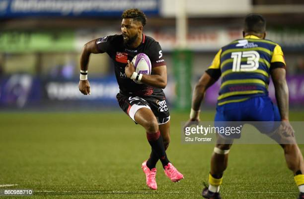 Lyon Fullback Delon Armitage in action during the European Rugby Challenge CUP Match between Cardiff Blues and Lyon at Cardiff Arms Park on October...