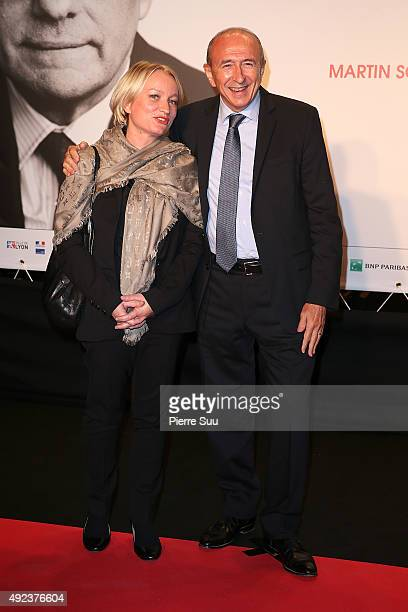 Lyon Mayor Gerard Collomb and his wife Caroline attend the Opening Ceremony of the 7th Film Festival Lumiere on October 12 2015 in Lyon France