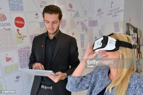 'Nexity' the second connected estate agency in France The clients equipped with virtual reality headsets are offered a virtual reality property walk...