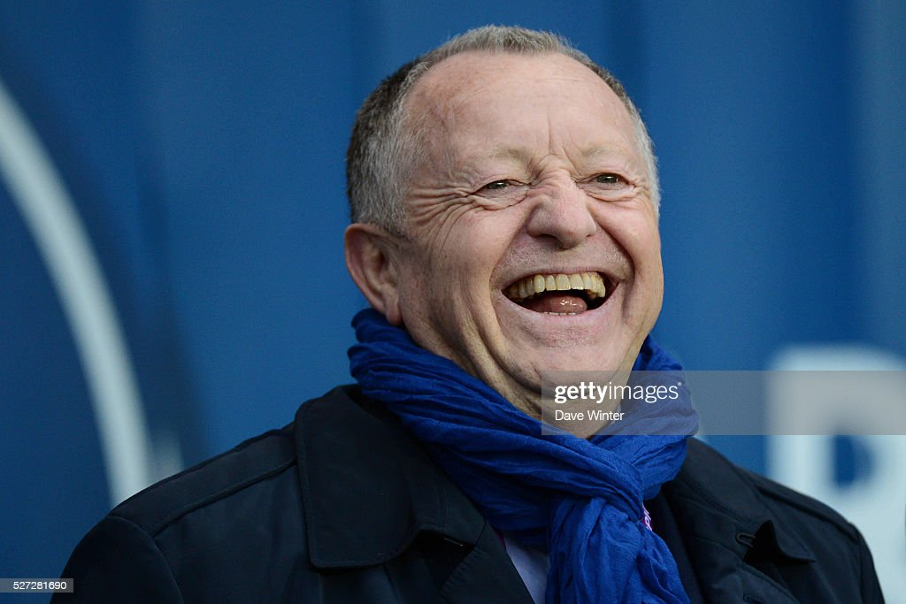 Lyon president Jean Michel Aulas during the Uefa Women's Champions League match, semi-final, second leg, between Paris Saint Germain and Olympique Lyonnais at Parc des Princes on May 2, 2016 in Paris, France.