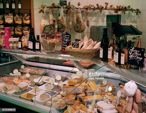 Lyon,Interior of a traditional food shop