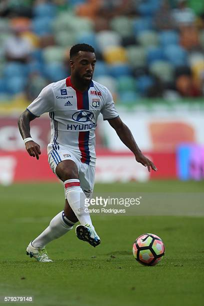 Lyon's forward Alexandre Lacazette during the Friendly match between Sporting CP and Lyon at Estadio Jose Alvalade on July 23 2016 in Lisbon Portugal